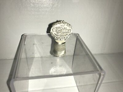 """FORD ~ 1902 Ford """"999"""" Racer ~ Thimble ~ Pewter Vintage"""