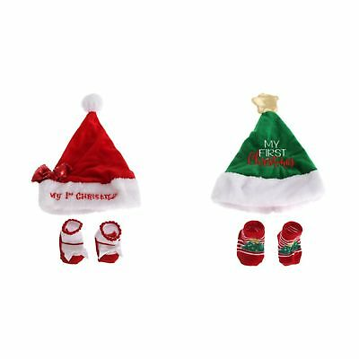 Nursery Time Baby Boys/Girls Christmas Hat & Socks Giftset (BABY1513)
