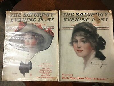 The Saturday Evening Post Aug 30 1913 & Oct 30 1915 Editions In Plastic