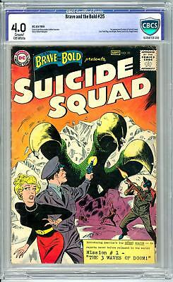 Brave and the Bold #25 CBCS 4.0 (C-OW) Origin & 1st Appearance of Suicide Squad