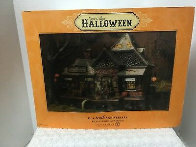 Dept 56 Snow Village Halloween Rickety Railroad 10th Anniversary
