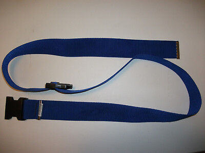 Gait Belt Transfer Navy Blue Nylon Webbing Plastic Buckle Excellent Condition