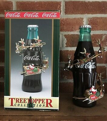 Coca Cola Santa Animated Tree Topper / Table Display - Christmas - Cavanagh 1999