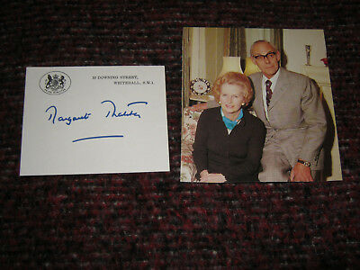 Margret Thatcher Prime Minister Great Britain Orginal Autogramm auf Karte