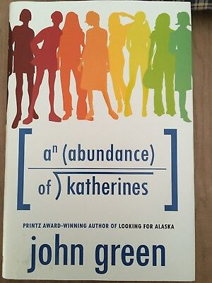 An Abundance of Katherines by John Green (2012, Hardcover) SIGNED FIRST EDITION
