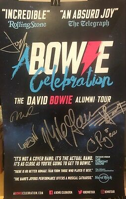 David Bowie A Bowie Celebration Signed Tour Poster - MINT FREE SHIPPING