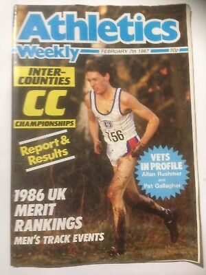 ATHLETICS WEEKLY Magazine. February 7th 1987. Inter-counties Cross Country.