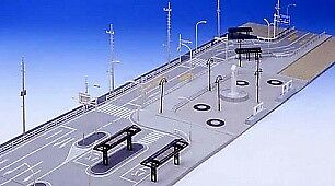 Kato 23-416 N Dio Town Station Area Scenery Detail Parts