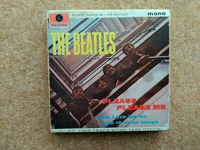 The Beatles Please Please Me, mono 3 3/4 IPS twin track mono reel to reel tape
