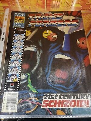 Transformers G1 Marvel UK comic 309 March 1991 FREE GIFT still attached