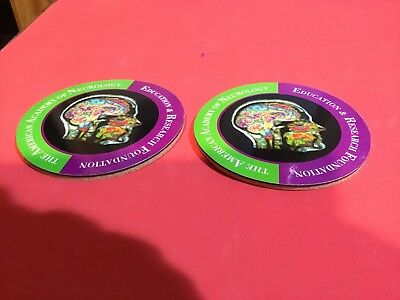 American Academy Of Neurology Education And Research Coasters Two Pieces