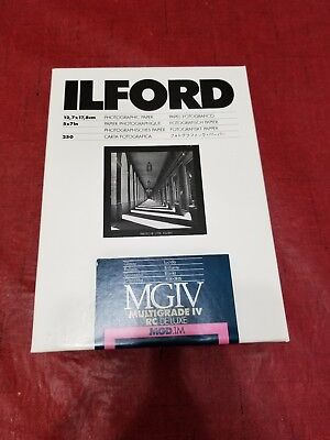 UNOPENED ILFORD MGIV DELUXE  mgd.1m 5x7 250 sheets