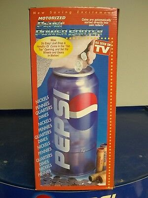 Pepsi Cola Motorized Automatic Power Coin Sorter Collectible Rare New in Box