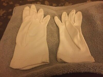 Vintage Ladies Gloves Lot Of Two Pair Of White Gloves