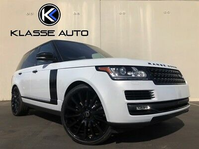 2016 Range Rover HSE Td6 2016 Land Rover Range Rover HSE Td6 Rare Color Factory Black Accents Diesel Wow