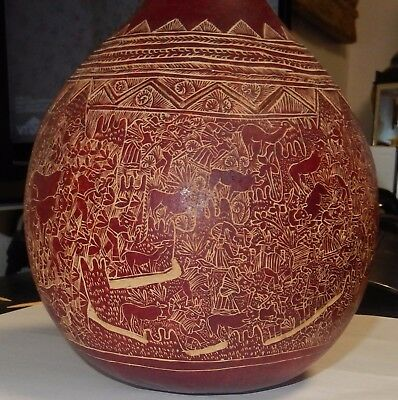 Very Detail Hand Carved Gourd