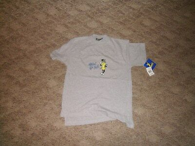 Mr. Peanut Planters Peanut Adult Small Gray T-Shirt Relax Go Nuts with Tag Lot#5