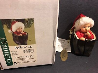 Clothtique Bundles Of JOY Baby Xmas Ornament*Special Delivery*Possible Dreams-NW