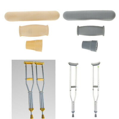 Anti-skid Crutch Accessory Kit Crutch Pad + Handle Grip Covers + Tip Cover