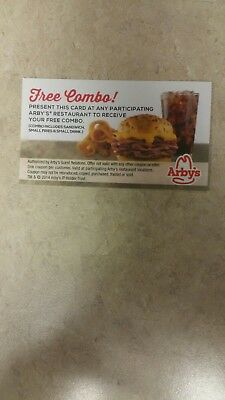6 arbys Free Combo Voucher meals cheap new / restaurant / fast food/