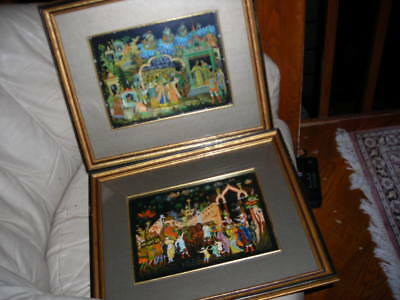 Pair Of Signed And Dated Russian Lacquer Box Style Art Works 16X14