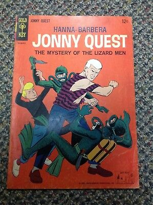 Jonny Quest (Gold Key) #1 Johnny Hanna Barbera 1964 (repaired) SWEET BOOK!