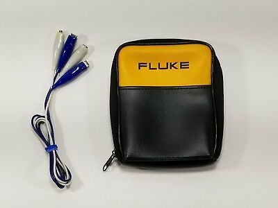 Fluke Accessory Carrying Case For DMM Multimeter With Alligator Test Leads