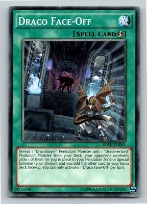 Draco Face Off - Yugioh Card - Mint / Near Mint Condition