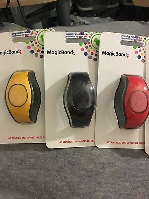 Walt Disney World 6 Magic Band Magicband 2.0 Solid Color Millennial Pink Red