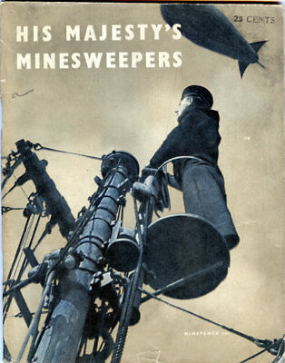 1943 WWII Royal Navy His Majesty s Minesweepers Ministry of Information Magazine