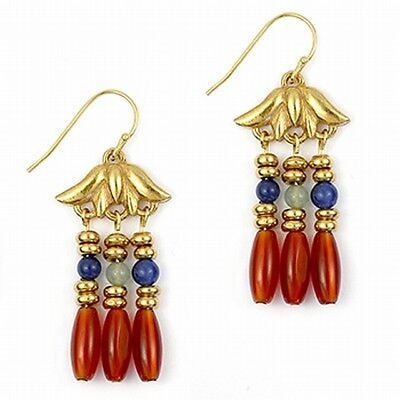 Lotus Triple Drop Earrings - Museum Store Collection