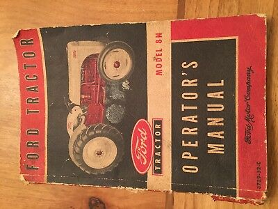 Vintage Ford Tractor Model 8N Operator's Manual