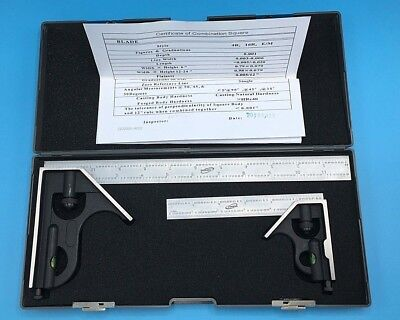 """iGAGING 34-212-26 6"""" AND 12"""" Combination Square Boxed Set"""