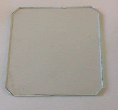 Clock Glass Square Flat 111mm Corners 12-13mm Clockmakers Spare Part