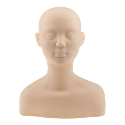 Soft Silicone Massage Make Up Practice Training Mannequin Head with Shoulder