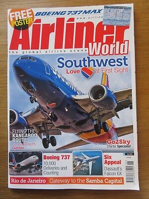 Airliner World aircraft magazine June 2018 Excellent condition
