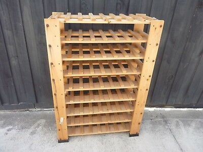 Ikea Solid Wood Wine Rack 72 Bottle Timber Wooden Storage