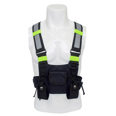 Radios Pocket Two Way Radio Chest Harness Front Pack Pouch Holster Vest Rig