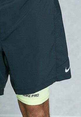 "Mens NIKE RUNNING 7"" Distance 2 in 1 Shorts Size 2XL. 683288-010"