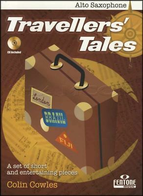 Travellers Tales for Alto Saxophone Sax Sheet Music Book with CD Colin Cowles