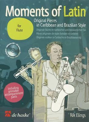 Moments of Latin for Flute Sheet Music Book with CD Caribbean & Brazilian Style
