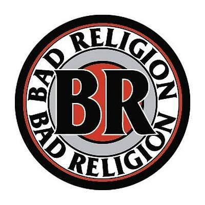 "Bad Relgion Logo 1 1/2"" ACROSS METAL BUTTON NEW"