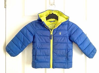 Boys Joules Blue Padded Coat 18-24 Months