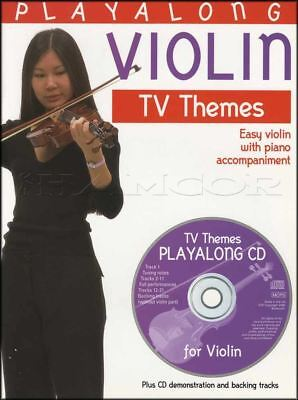 Playalong Violin TV Themes Sheet Music Book & CD Easy Poirot Mission Impossibe