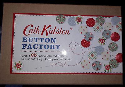 Cath Kidston Button Factory ~ Create 25 Fabric Covered Buttons ~ Gift Set