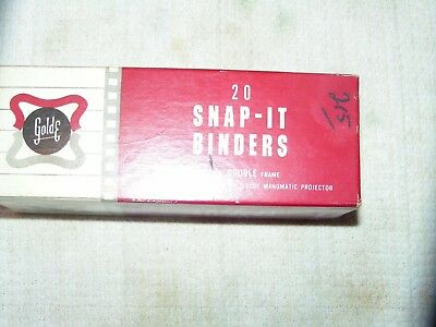 Vintage Golde Snap-It Binders Box Only Recommended For Golde Manumatic Projector