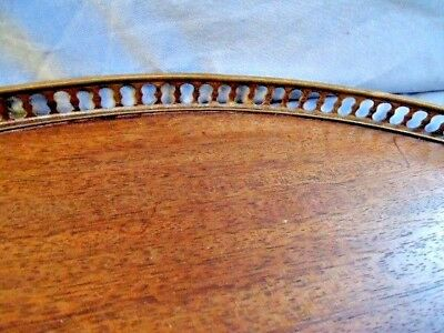 19Th Century Mahogany Veneered  Round Table Top With A Brass Gallery