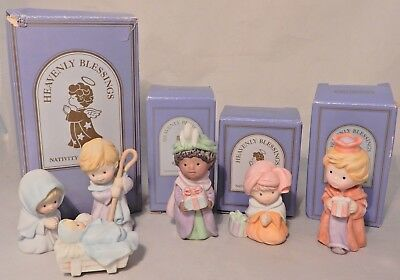 Avon 1986 Nativity Collection Heavenly Blessings The Holy Family & the 3 Kings