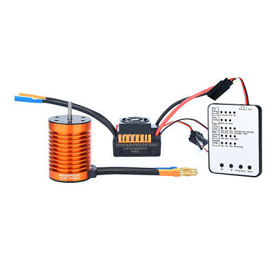 F540 3000KV Brushless Motor+45A ESC+Programming Card For 1/10 RC Racing Car A