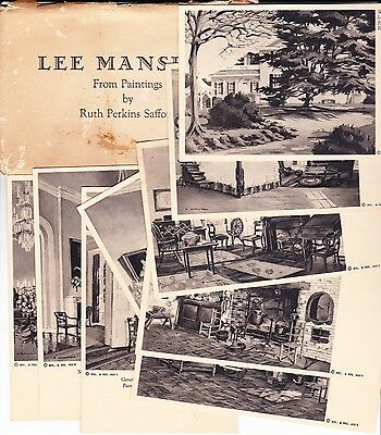 Lot of 9 Vintage Postcards Lee Mansion from paintings by Ruth Safford circa 1916